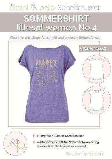 Lillesol Papierschnittmuster No.4 - Damen Sommershirt im Makerist Materialshop - Bild 1