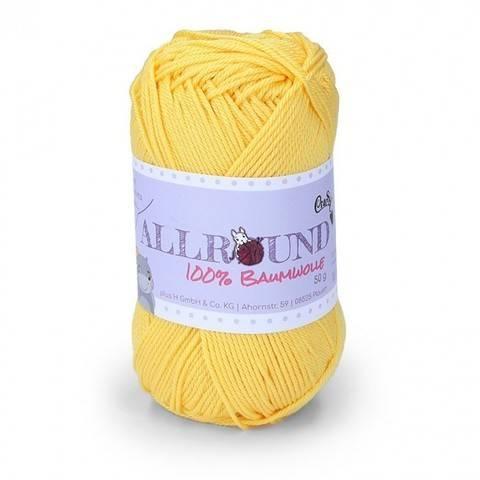 0206 gelb Allround von CraSy Wolle ca. 125 m 50 g im Makerist Materialshop