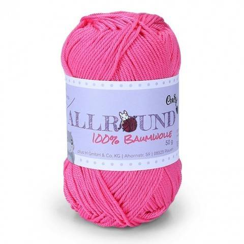 0211 pink Allround von CraSy Wolle ca. 125 m 50 g im Makerist Materialshop