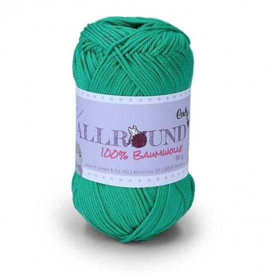 0308 grün Allround von CraSy Wolle ca. 125 m 50 g im Makerist Materialshop - Bild 1