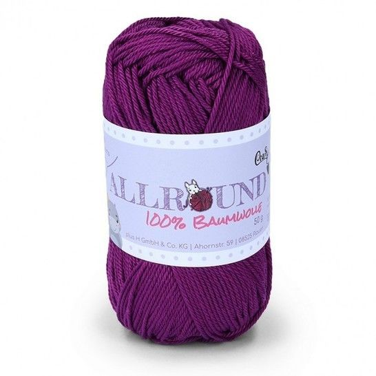 0310 violett Allround von CraSy Wolle ca. 125 m 50 g im Makerist Materialshop - Bild 1