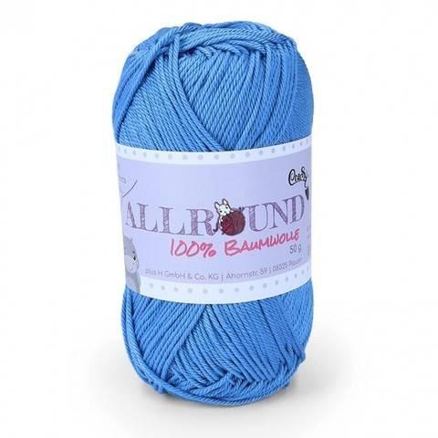 0312 blau Allround von CraSy Wolle ca. 125 m 50 g im Makerist Materialshop