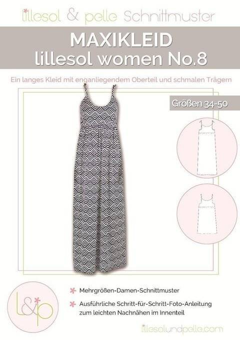 Lillesol Papierschnittmuster No.8 - Damen Maxikleid im Makerist Materialshop