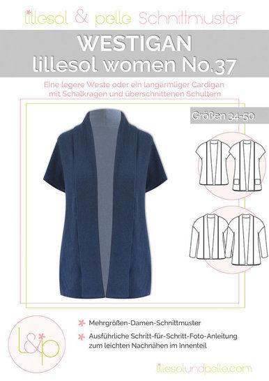 Lillesol Papierschnittmuster No.37 - Damen Westigan im Makerist Materialshop - Bild 1