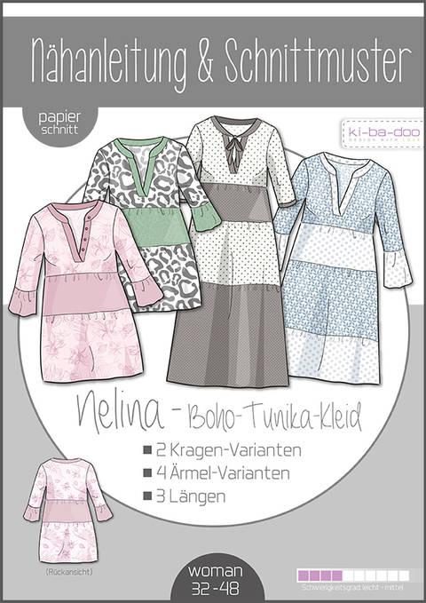Ki-ba-doo Schnittmuster und Nähanleitung gedruckt: Nelina Boho-Kleid Damen im Makerist Materialshop