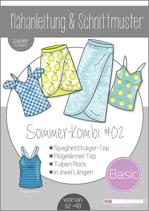 Ki-ba-doo Schnittmuster und Nähanleitung gedruckt: Sommer-Kombi #02 Damen im Makerist Materialshop