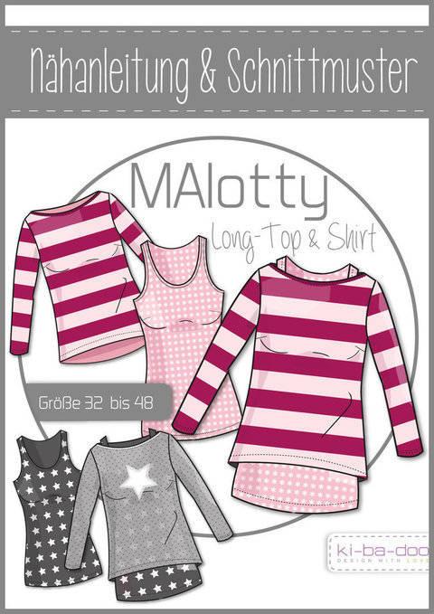 Ki-ba-doo Schnittmuster und Nähanleitung gedruckt: MAlotty Doppel-Shirt Damen im Makerist Materialshop
