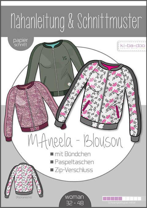 Ki-ba-doo Schnittmuster und Nähanleitung gedruckt: MAneela Blouson Damen im Makerist Materialshop
