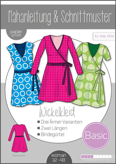Ki-ba-doo Schnittmuster und Nähanleitung gedruckt: Wickelkleid Damen im Makerist Materialshop - Bild 1