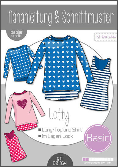 Ki-ba-doo Schnittmuster und Nähanleitung gedruckt: Doppel-Shirt Lotty Kinder im Makerist Materialshop - Bild 1