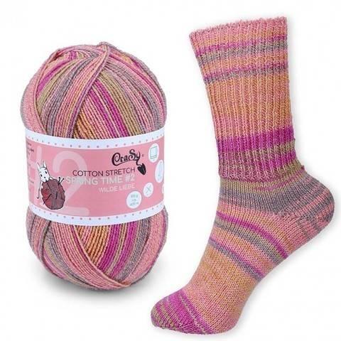 CraSy Sockenwolle: Wilde Liebe im Makerist Materialshop