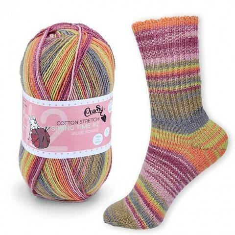 CraSy Sockenwolle: Wilde Sonne im Makerist Materialshop