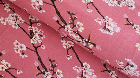 Modalstoff altrosa: Kirschblüten - 150 cm im Makerist Materialshop