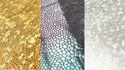 Stretchstoff: Metallic Reptil - 150 cm im Makerist Materialshop