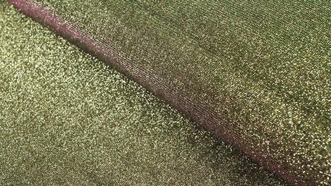 B-Ware Lurex-Jersey gold-grün-lila: Glamour und Glitzer - 140 cm im Makerist Materialshop