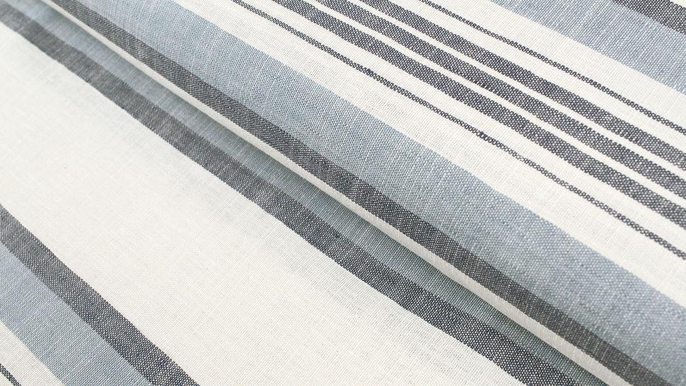 Leinen-Baumwollstoff blau-weiß: Streifen - 150 cm im Makerist Materialshop - Bild 1