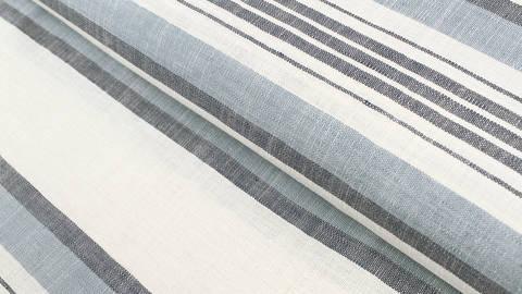 Leinen-Baumwollstoff blau-weiß: Streifen - 150 cm im Makerist Materialshop