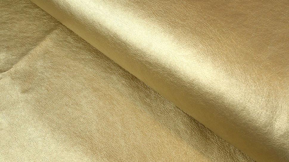 Kunstleder Uni: gold - 140 cm im Makerist Materialshop - Bild 1