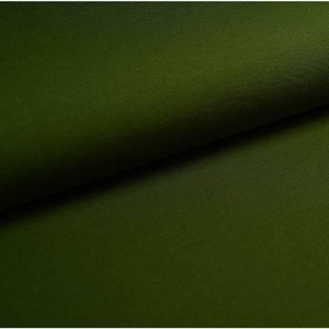 Bündchenstoff Uni: oliv - 35 cm im Makerist Materialshop