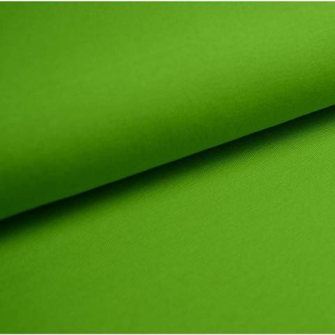 Bündchenstoff Uni: kiwi - 35 cm im Makerist Materialshop