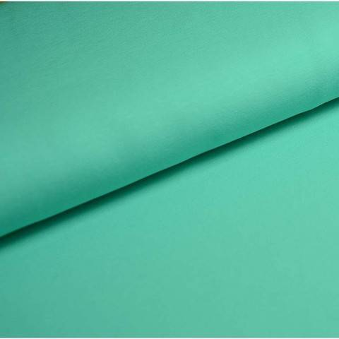 Bündchenstoff Uni: aqua - 35 cm im Makerist Materialshop