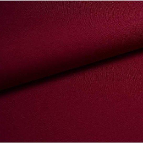 Bündchenstoff Uni: bordeaux - 35 cm im Makerist Materialshop - Bild 1