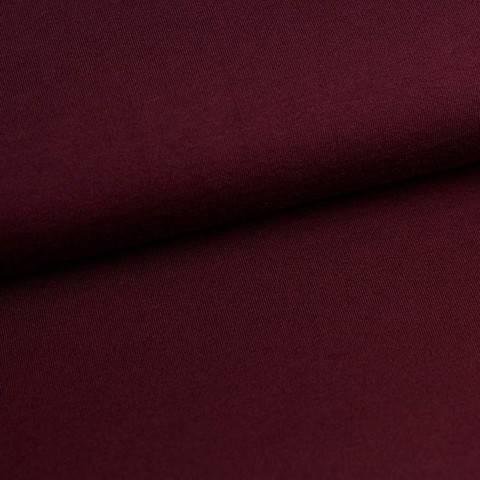 Bündchenstoff Uni: weinrot - 35 cm im Makerist Materialshop