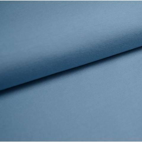 Bündchenstoff Uni: taubenblau - 35 cm im Makerist Materialshop