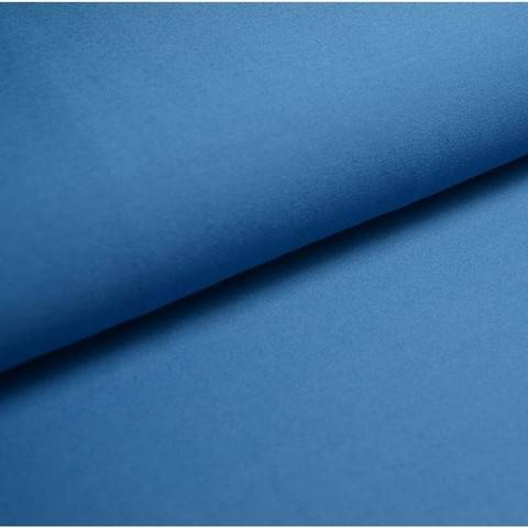 Bündchenstoff Uni: azurblau - 35 cm im Makerist Materialshop