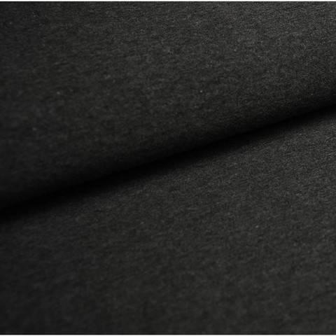 Bündchenstoff Uni: anthrazit meliert - 35 cm im Makerist Materialshop