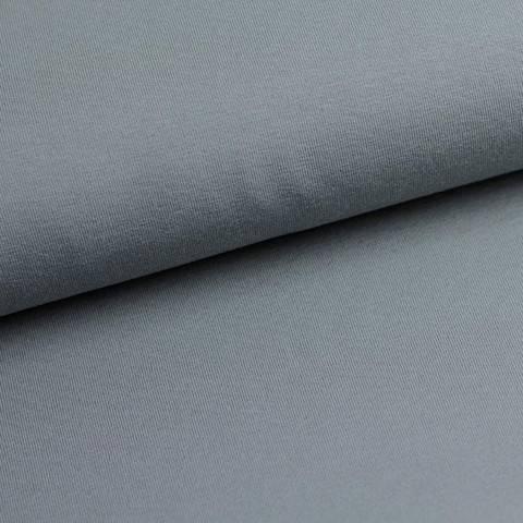 Bündchenstoff Uni: mittelgrau - 35 cm im Makerist Materialshop