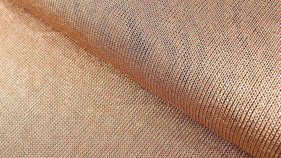 Viskose-Metallstoff bronze elastisch: Kettengeflecht - 150 cm im Makerist Materialshop - Bild 1