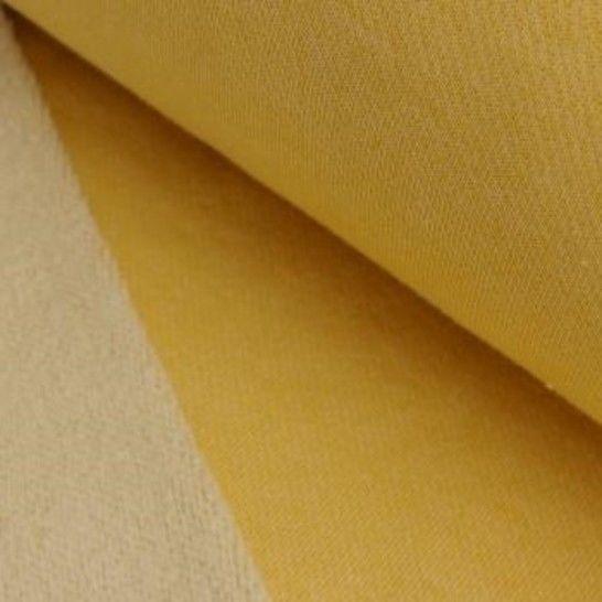 Lammfleece uni meliert: senf im Makerist Materialshop - Bild 1