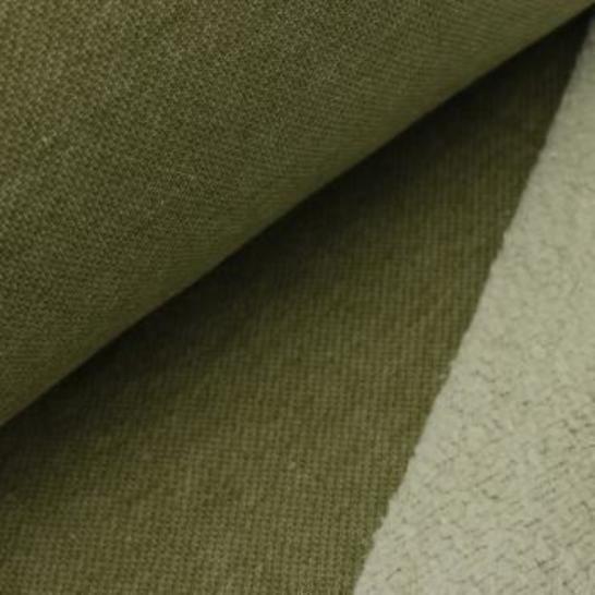 Lammfleece uni meliert: oliv im Makerist Materialshop - Bild 1