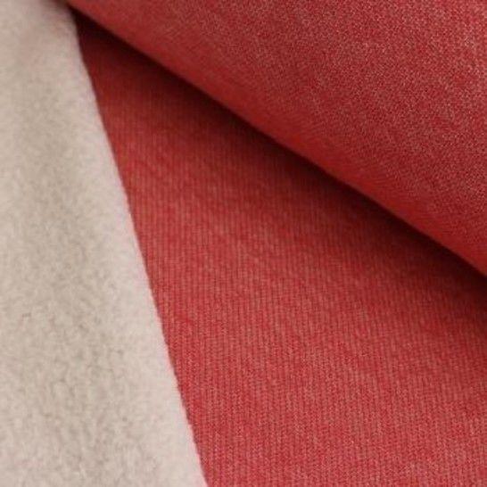 Lammfleece uni meliert: rot im Makerist Materialshop - Bild 1