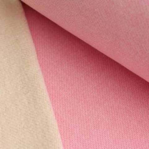 Lammfleece uni meliert: rosa im Makerist Materialshop