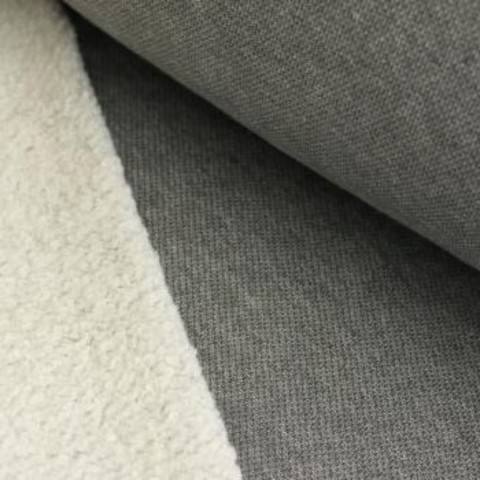 Lammfleece uni meliert: hellgrau im Makerist Materialshop