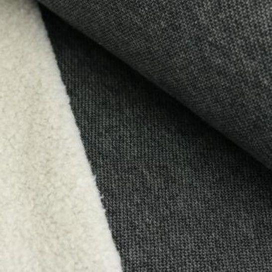 Lammfleece uni meliert: schwarz im Makerist Materialshop - Bild 1