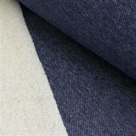 Lammfleece uni meliert: jeans im Makerist Materialshop - Bild 1