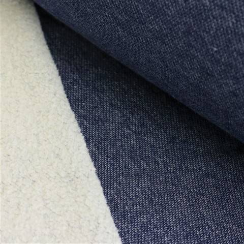 Lammfleece uni meliert: jeans im Makerist Materialshop