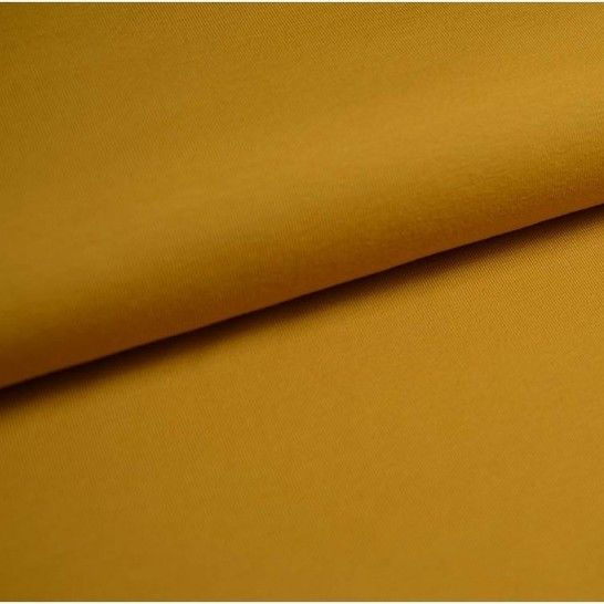Baumwolljersey Uni: senf - 150 cm im Makerist Materialshop - Bild 1