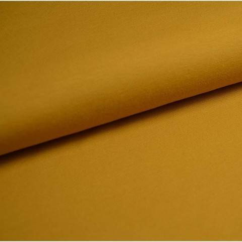 Baumwolljersey Uni: senf - 150 cm im Makerist Materialshop