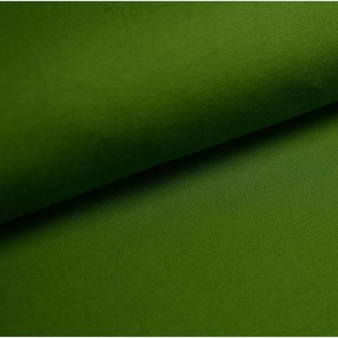 Baumwolljersey Uni: moosgrün - 150 cm im Makerist Materialshop