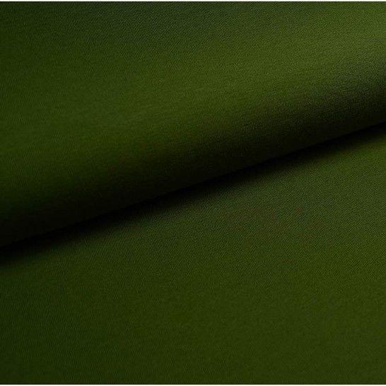 Baumwolljersey Uni: oliv - 150 cm im Makerist Materialshop - Bild 1