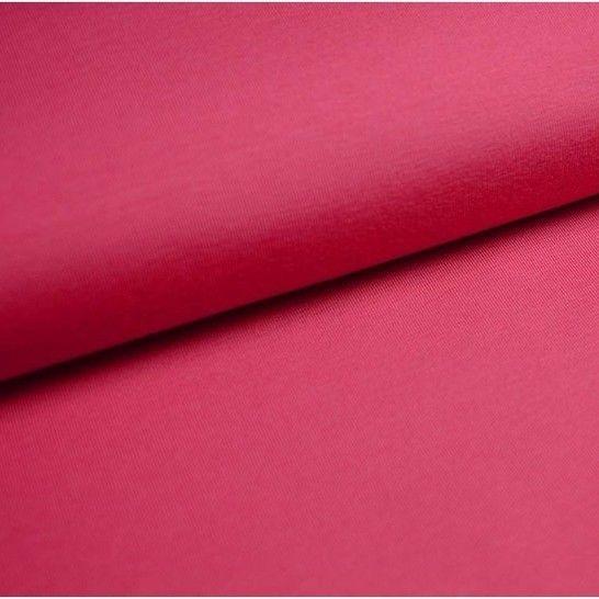 Baumwolljersey Uni: pink - 150 cm im Makerist Materialshop - Bild 1