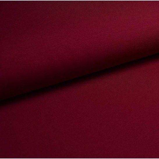Baumwolljersey Uni: bordeaux - 150 cm im Makerist Materialshop - Bild 1