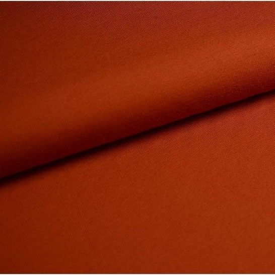 Baumwolljersey Uni: ziegel - 150 cm im Makerist Materialshop - Bild 1