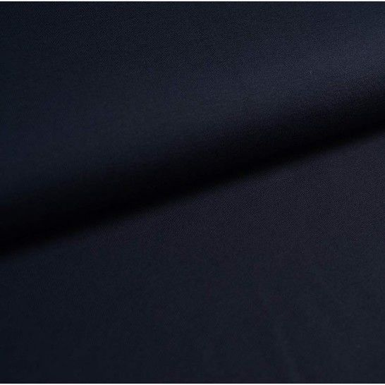 Baumwolljersey Uni: dunkelblau - 150 cm im Makerist Materialshop - Bild 1