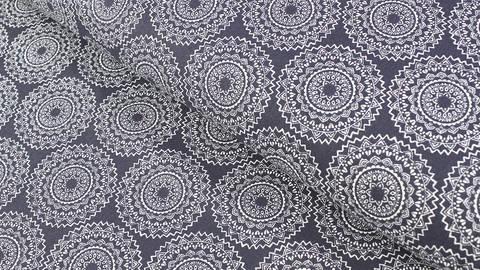 Baumwollstoff dunkelblau: Mandala - 140 cm im Makerist Materialshop