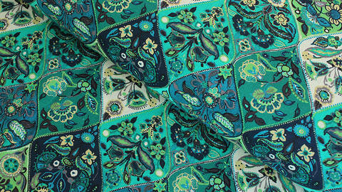 Baumwollstoff grün-türkis: Provence - 160 cm im Makerist Materialshop